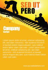 Careers/Industry: Modelo de Anúncio - trabalhadores de telhado #04101