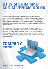 Technology, Science & Computers: Laptop Data Ad Template #04108