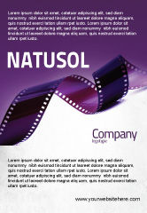 Careers/Industry: Film Strip In Purple Color Ad Template #04168