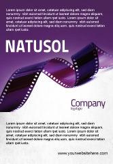 Careers/Industry: Plantilla de publicidad - tira de película en color púrpura #04168
