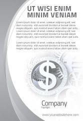 Financial/Accounting: World Hard Currency Ad Template #04203