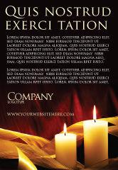 Religious/Spiritual: Plantilla de publicidad - luz de la vela #04239