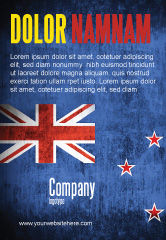 Flags/International: New Zealand Ad Template #04258