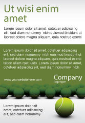 Sports: Tennis Balls Ad Template #04296