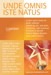 Holiday/Special Occasion: Star Of The Best Ad Template #04316