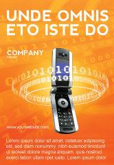 Telecommunication: Mobile-service Provider Advertentie Template #04320