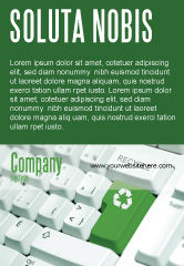 Nature & Environment: Recycling-technologie Advertentie Template #04339