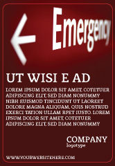 Business Concepts: Emergency Sign Ad Template #04341