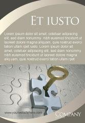 Business Concepts: Schlüssel zu allem Anzeigenvorlage #04347