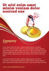 Sports: Modelo de Anúncio - medalha #04414