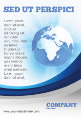 Global: Blue Globe Ad Template #04456