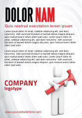 Utilities/Industrial: Hammer Man Ad Template #04496