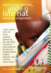 People: Afrikaanse Baby Advertentie Template #04531