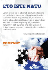 Business: Puzzle Of Partnership Ad Template #04550