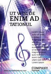 Art & Entertainment: Music Tune Ad Template #04663