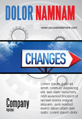 Business Concepts: Way To Changes Ad Template #04676