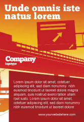Construction: Road Way Ad Template #04692
