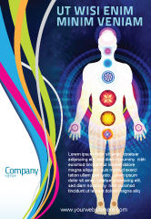 Medical: Body Chakras Ad Template #04696