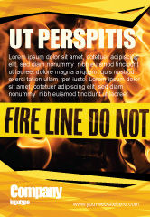 Careers/Industry: Fire Line Ad Template #04736