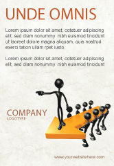 Business Concepts: Specify Direction Of Movement Ad Template #04864