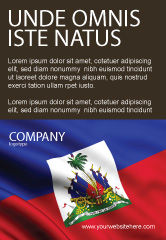 Flags/International: Haiti Ad Template #04875