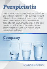 Business Concepts: Glass Half Full Ad Template #04919