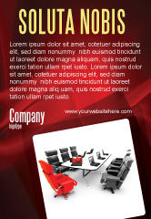 Careers/Industry: Conference Hall Waiting For Business Meeting Ad Template #04923