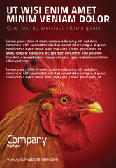 Agriculture and Animals: Rooster Ad Template #04937