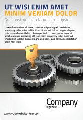 Business Concepts: ロック機構への鍵 - 広告テンプレート #04966