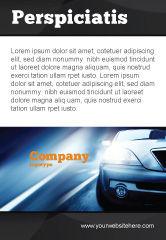 Cars/Transportation: 汽车在黄昏的道路上广告模板 #04982
