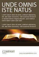 Religious/Spiritual: Holly Book Ad Template #04995