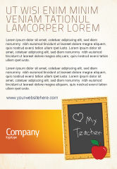 Education & Training: I Love My Teacher Ad Template #05109