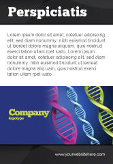 Medical: DNA Spirals Ad Template #05117