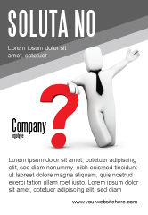 Consulting: Red Question Mark Under Hand Of Man Ad Template #05202