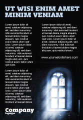 Religious/Spiritual: Window In the Church Ad Template #05230