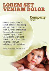 People: Baby Under Blanket Ad Template #05234