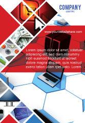 Technology, Science & Computers: Wholesale-elektronica Advertentie Template #05235