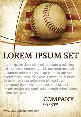 Sports: Modèle de Publicité de base-ball américain #05296