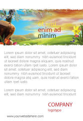 Nature & Environment: Fine Zonsopgang Advertentie Template #05312