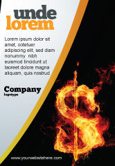 Financial/Accounting: Flaming Dollar Ad Template #05347