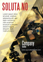 Military: Military Helicopter Ad Template #05348