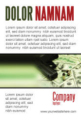 Financial/Accounting: Money and Guns Ad Template #05349