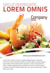 Food & Beverage: Modelo de Anúncio - camarão #05355