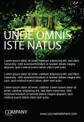Nature & Environment: Weg In Het Bos Advertentie Template #05377