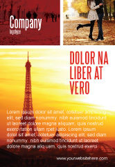 Careers/Industry: Paris In Collage Ad Template #05425