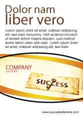 Business Concepts: Plantilla de publicidad - clave del éxito #05487