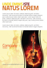 Art & Entertainment: Jazz Guitar Ad Template #05536