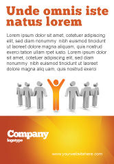 Careers/Industry: Orange Winner Ad Template #05622
