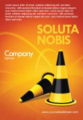 Construction: Plantilla de publicidad - conos de tráfico #05631