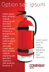 Careers/Industry: Fire Extinguisher Ad Template #05641